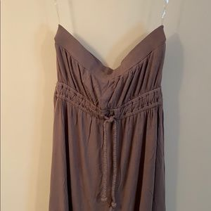 Brown strapless summer dress